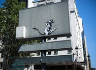 Banksy's work on road sign near Centre Pompidou stolen in Paris