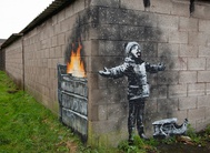 Banksy draws new mural in industrial Welsh town