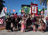 Art parade against patriarchy targeting Trump held in Miami