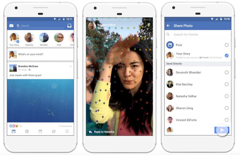 В Facebook появились «сгорающие» публикации