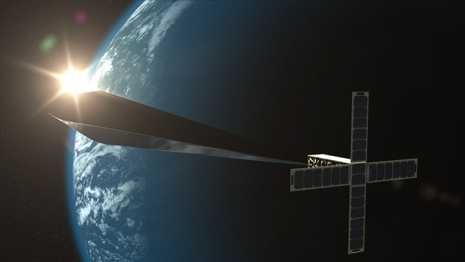 American Artist Raises Funds For Launching Artistic Satellite From - Satellite from earth